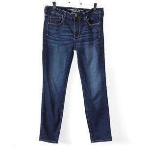 AEO Dark Wash Super Stretch Skinny Jeans 12 Short